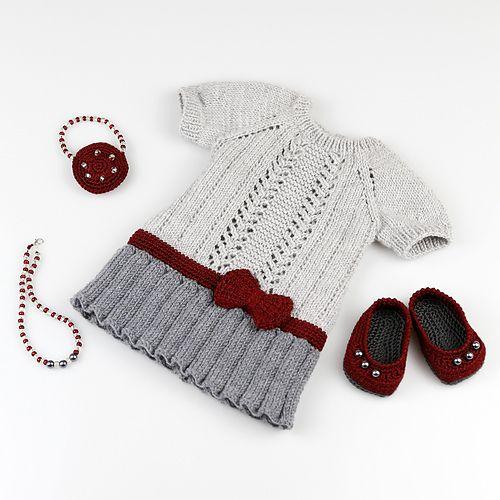 Ravelry: cataddict's gifts around the Christmas tree FREEBIE dress pattern