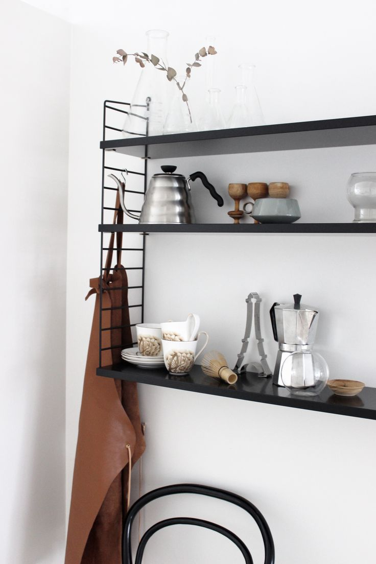 scandinavian kitchen inspiration, black String via http://www.scandinavianlovesong.com/