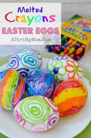 Melted Crayons Easter Eggs, when the eggs are still hot draw on them with a crayon the BOLD BRIGHT COLORS pop and make the most beautiful eggs ever #CrayonEggs, #MeltedCrayonEggs, #Easter, #easterEggs, #KidCraft
