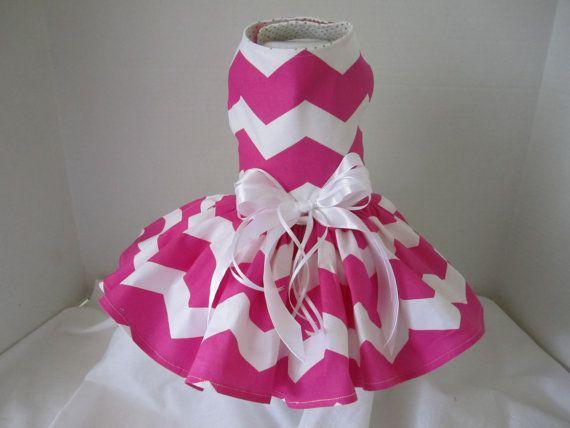 Dog Dress XS Chevron By Nina's Couture by NinasCoutureCloset