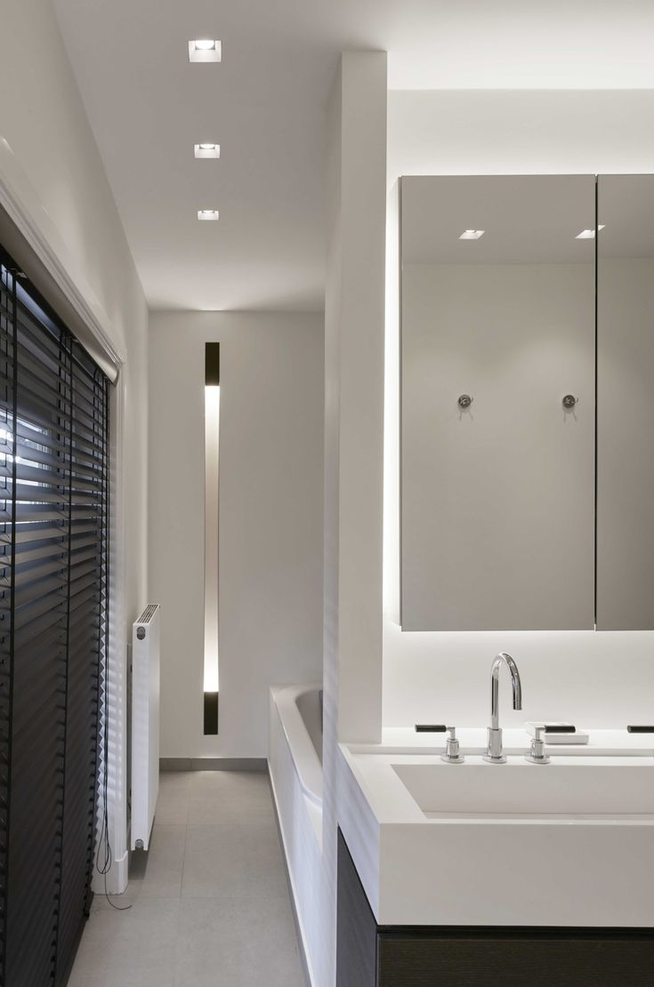 White clear bathroom profile lighting dolma wall