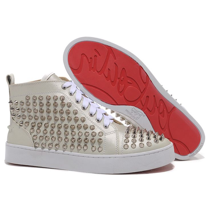 Find Christian Louboutin Louis Spikes High Top Sneakers Beige Hot online or  in Footlocker. Shop Top Brands and the latest styles Christian Louboutin  Louis ...