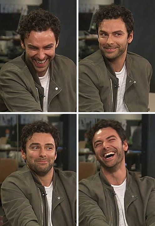 Aidan on HuffLive, USA, 18th June 2015. He had been asked a question via Skype by a lady in England and a young man had appeared in the background whilst she was talking. It was really funny. The interviewer, an Australian, mentioned it and Aidan had said that he'd seen the lad but hadn't said anything. Both the interviewer and Aidan went into fits of laughter. The lady said it was her son, whose hair was long like Poldark's.