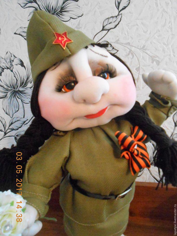 Купить Военная кукла Солдат - Ксеня (подарок на 9 мая) - хаки, 9 мая, подарок