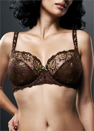Fauve Christina Brown balcony bra