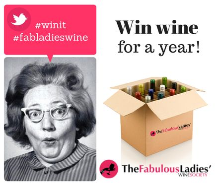 WIN WINE FOR A YEAR! It's Australia's first Twitter hashtag competition and we're part of it! Just go to YOUR Twitter account & tweet #winit #fabladieswine & check your notifications to complete your entry. Too easy!   (You can find us on Twitter @FabLadiesWine)