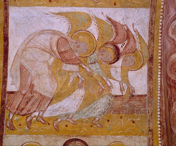 Peintures dans  l'abbaye de Saint-Savin-sur-Gartempe. Poitou-Charentes