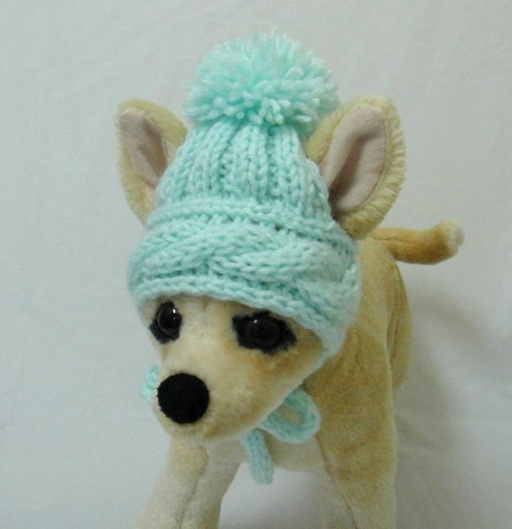 Pet Clothes Hand-Knit Dog Hat for Small Dogs XXS Size
