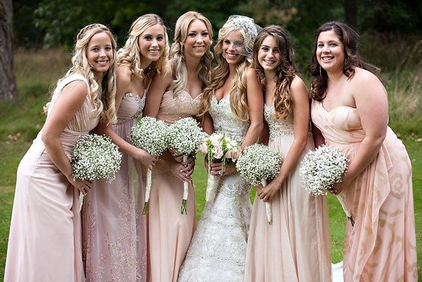 Bride & Bridesmaids wedding bouquets