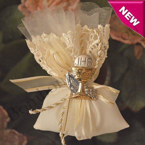 Italian First Communion Pouch with Italian Silver Chalice myitalianfavors.com™