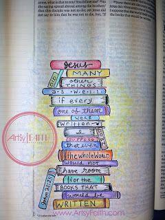 Artsy Faith | John 21:25 Bible Journaling | Bible Art Journaling