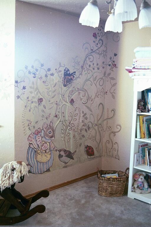 288 best images about art wall murals children traditional for Beatrix potter wall mural