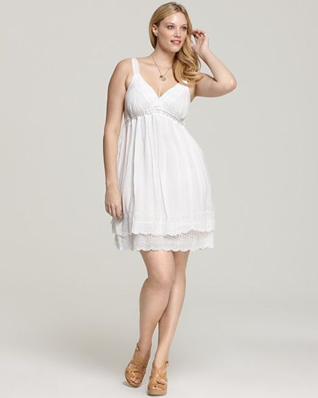 Plus Size White Summer Dress #summer