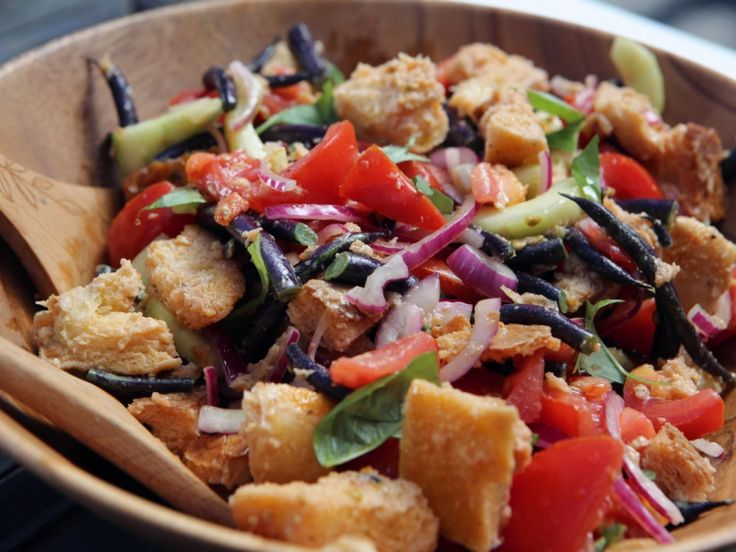 Zesty Garden Vegetable Bread Salad recipe from Nancy Fuller via Food Network