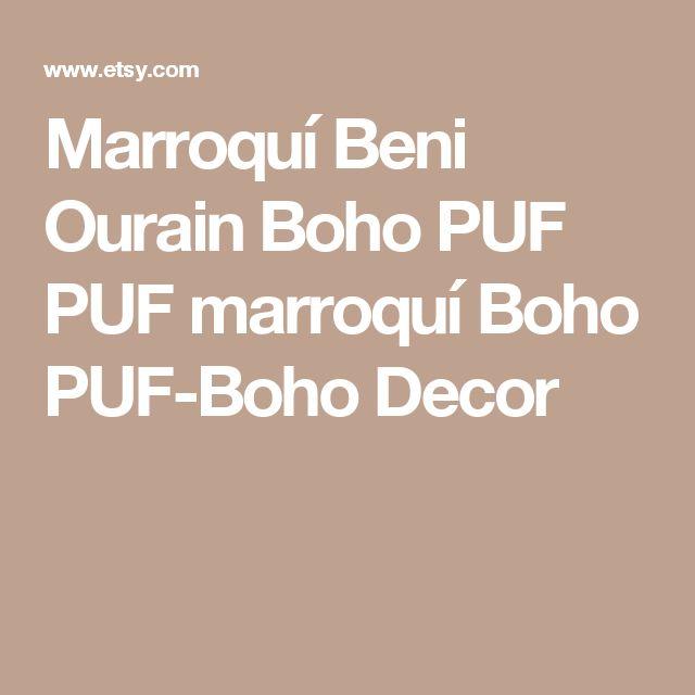 Marroquí Beni Ourain Boho PUF PUF marroquí Boho PUF-Boho Decor