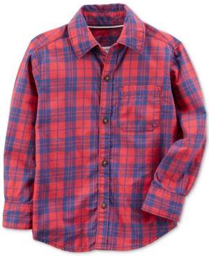 Carter's Plaid Cotton Shirt, Little Boys (4-7) & Big Boys (8-20) - Plaid 8