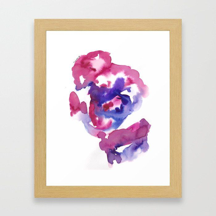 Buy 4 Color Flow 190531 Watercolor Abstract Painting Framed