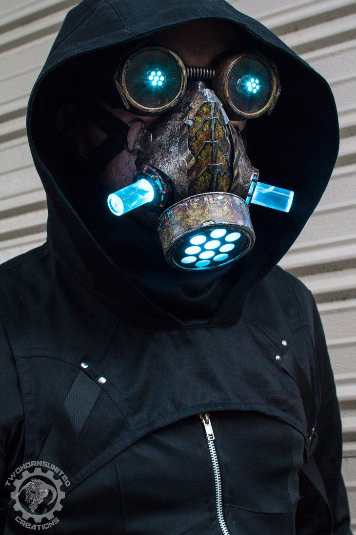 Cyberpunk Dystopian Light Up Mask By
