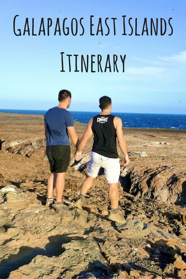 Full breakdown of our 8 days Galapagos luxury gay cruise East Islands Itinerary