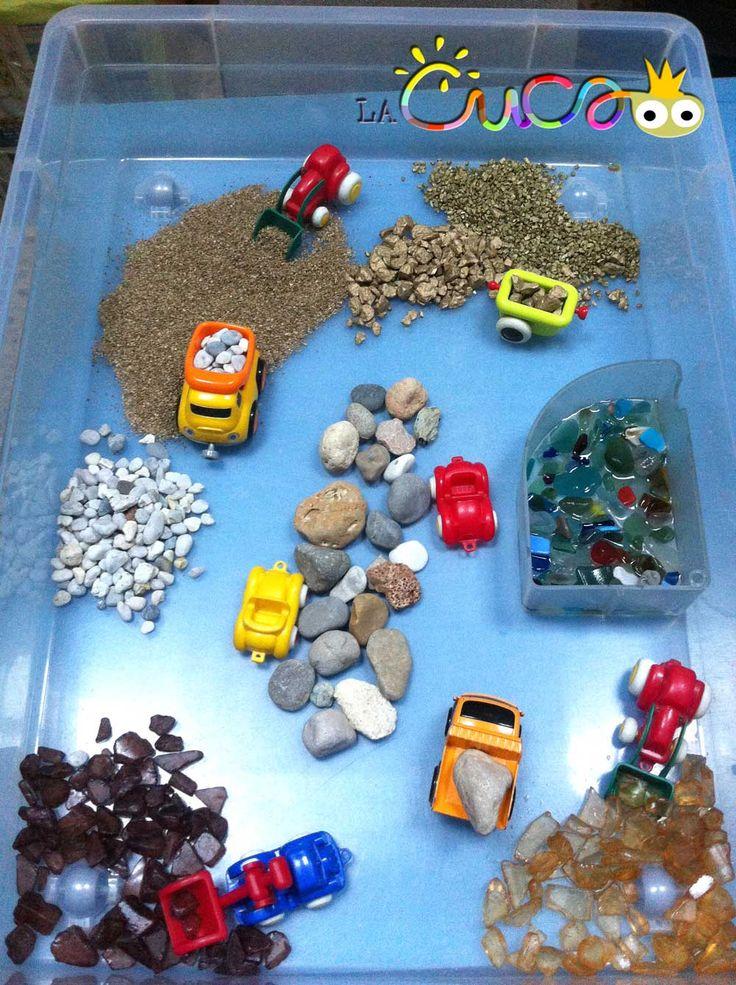 La cuca, espai de criança: Pedrera i carreteres