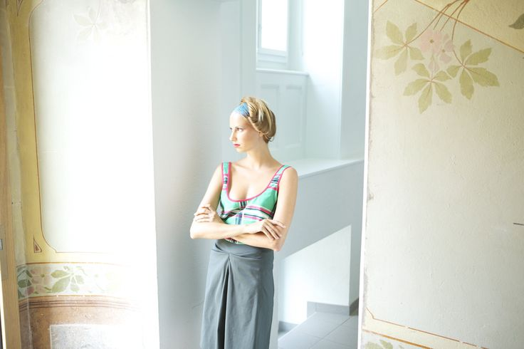 Nan Goldin / top soie                   Marta Colvin / jupe coton stretch