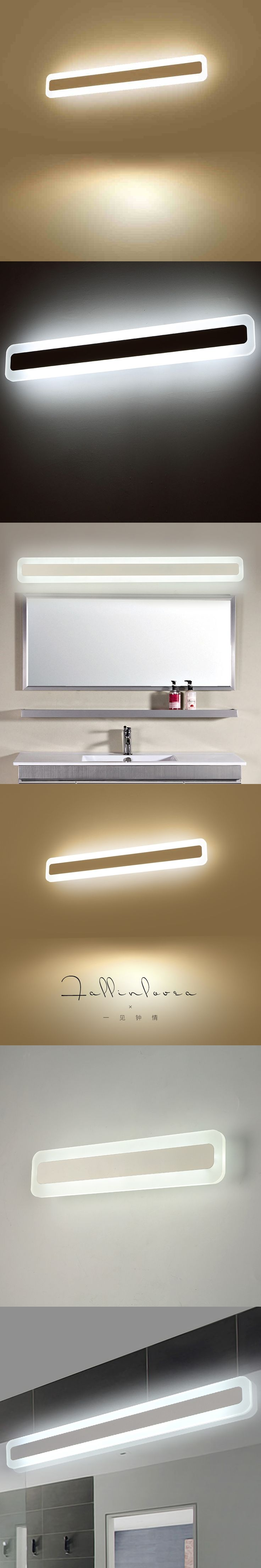 Modern LED Mirror Lights 0.4M~1.2M wall lamp Bathroom bedroom headboard cabinet wall sconce lampe deco Anti-fog espelho banheiro