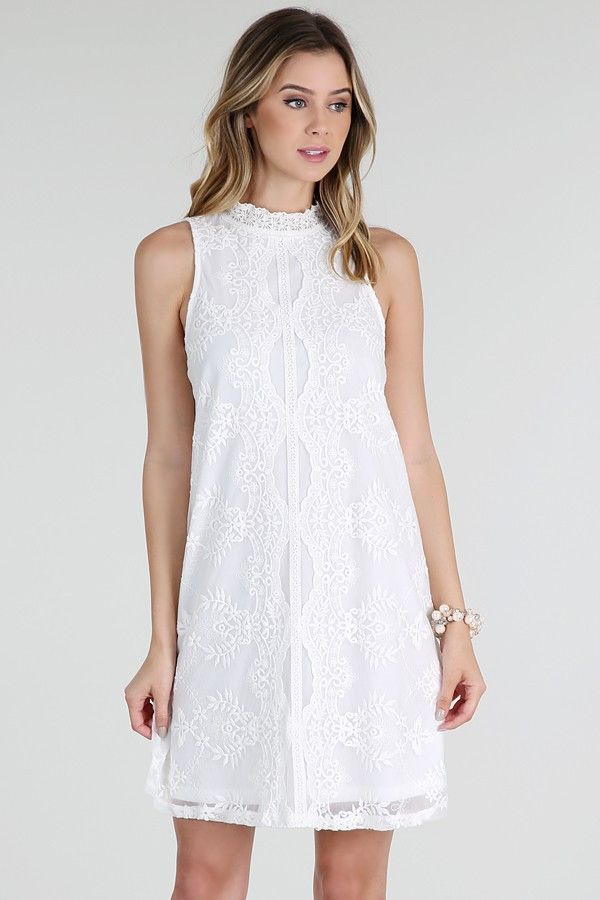 Baxter White Shift Dress