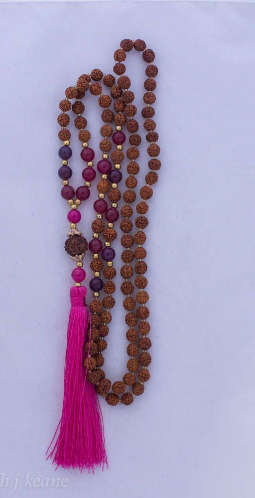 Rudraksha beads are thought to have significant & powerful healing properties. According to the ancient Vedas, Shiva cried tears of compassion for humanity and his tears became Rudraksha Seeds to assist humanity in our healing. Rudraksha beads assist in the ability to concentrate, gain clarity & peace of mind, improve memory & relieve stress when worn or held during meditation. https://www.etsy.com/listing/224232658/rudraksha-beads-with-rose-quartz-hot?