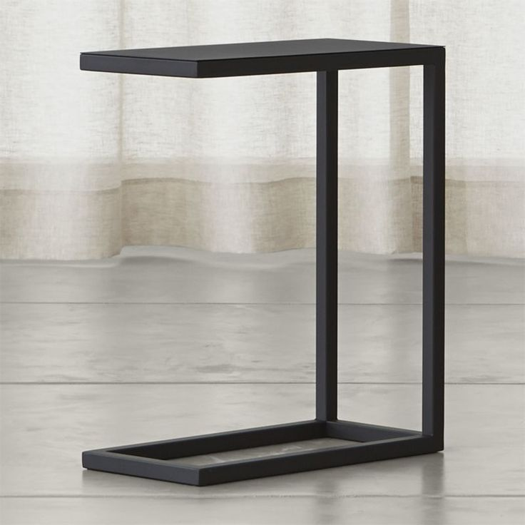 """Square tubular steel creates the clean, architectural lines of this minimalist design, offered at a minimal price. 1 1/2"""" steel tube frame with black powdercoat finishMade in China."""