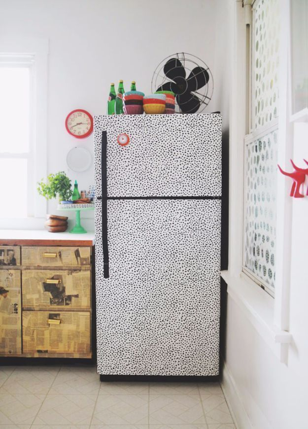 DIY Hacks for Renters – Make The Fridge Pop – Easy Ways to Decorate and Fix Things on Rental Property – Decorate Walls, Cheap Ideas for Making an Apar…