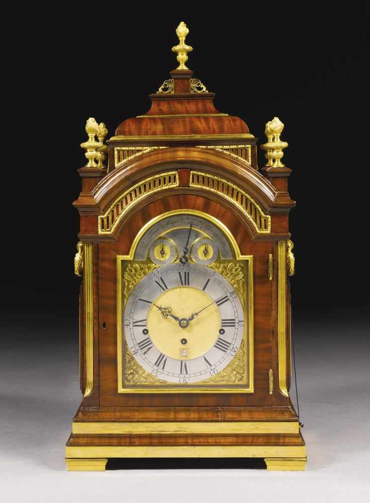 A Gilt Mounted Mahogany Musical Table Clock John Ellicott