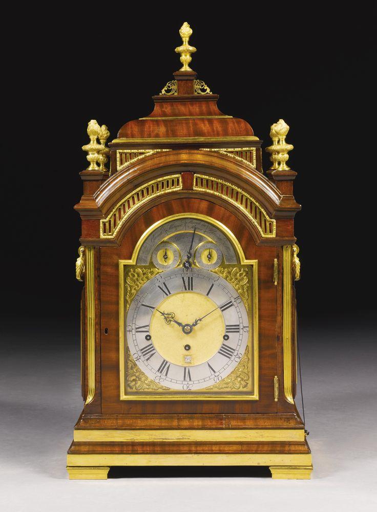 A Gilt Mounted Mahogany Musical Table Clock John Ellicott