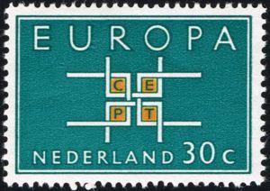 1963  c.e..p.t. europa stamps -
