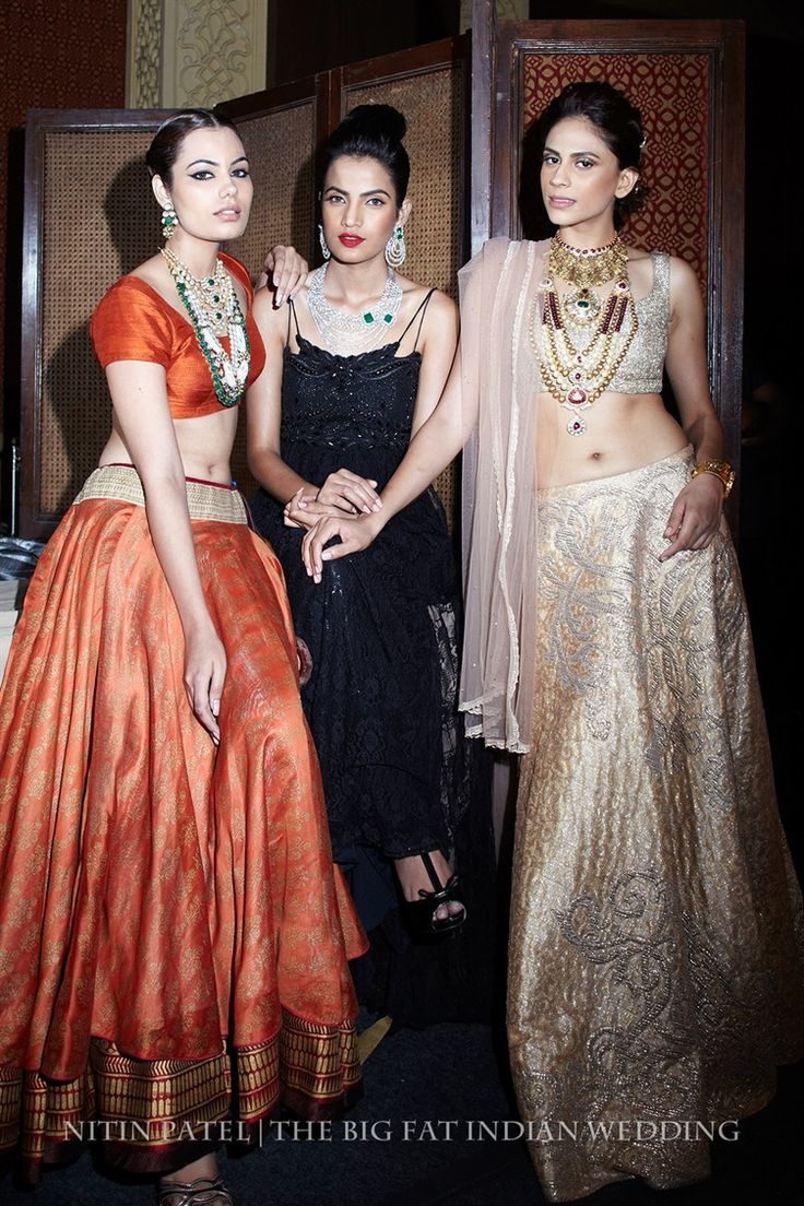 modern and traditional indian jewelry - necklaces, earrings | Shree Raj Mahal Indian Jewelry | India Couture Week 2014