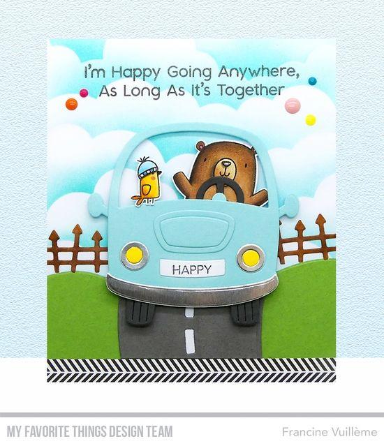 Stamps: Better Together Die-namics: Better Together, Carpool, On the Road,  Spooky Fence Francine Vuillème #mftstamps