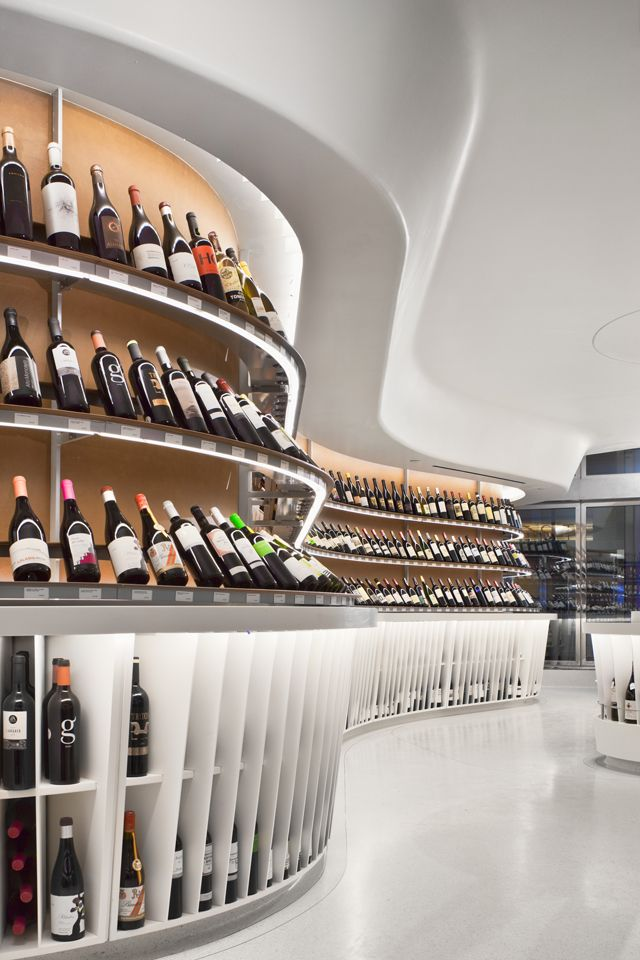 Vintry Fine Wines, NYC.  :: Roger Marvel Architects. Another application of Corian♥