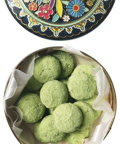 Matcha Mexican Wedding Cookies | You might be familiar with the ultra tender melt-in-your-mouth experience that is a Mexican wedding cookie. Made mostly of butter, ground nuts, and powdered sugar, these cookies are just as delectable as those you've had before but we gave them a modern twist, tossing them in matcha. You may have seen matcha lattes cropping up on your favorite café's menu, but we like to use the powdered green tea in baking too. While any matcha will work for this recipe…