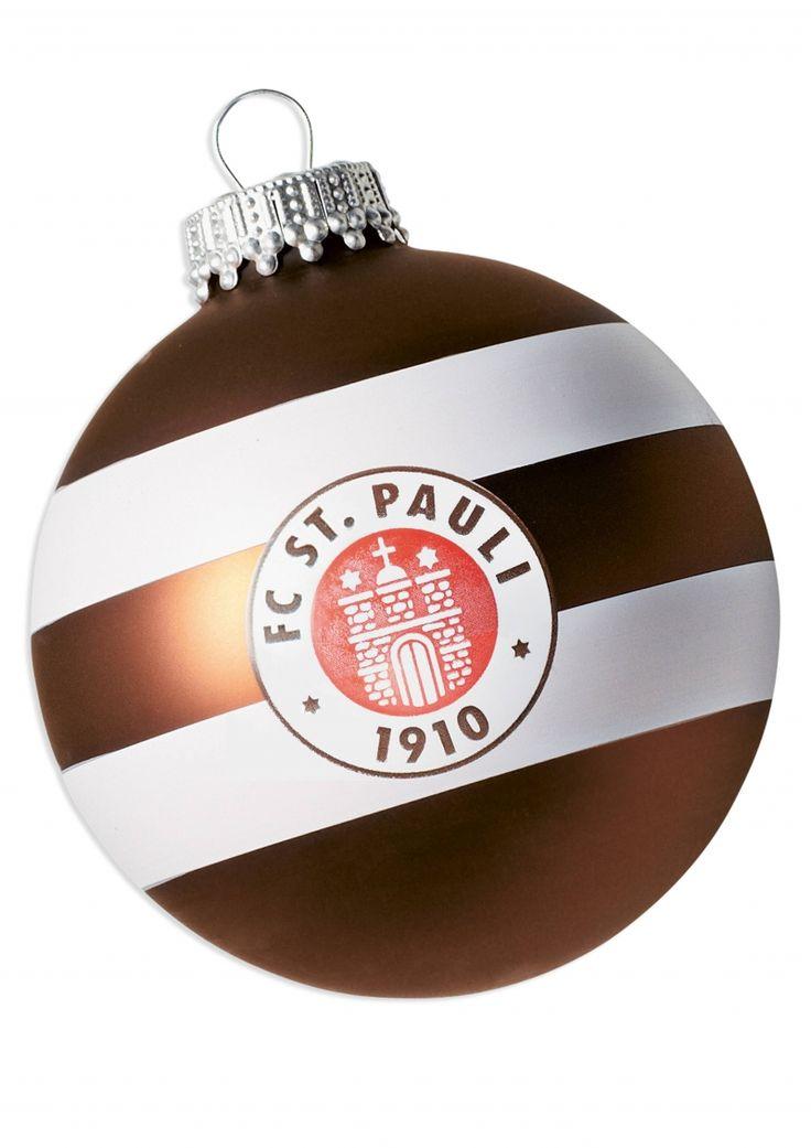 Christbaumkugeln Logo Streifen 4er Set - FC St. Pauli Fan-Shop