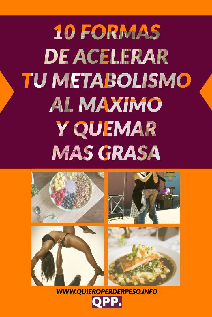 10 alimentos que aceleran el metabolismo para adelgazar