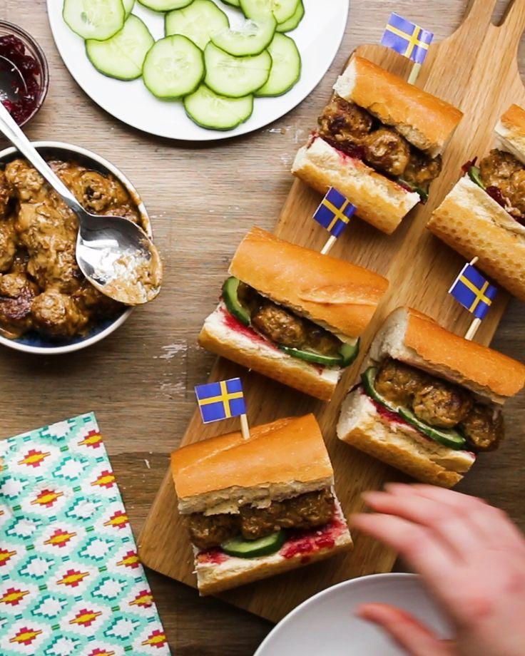 Saucy Swedish Meatball Subs