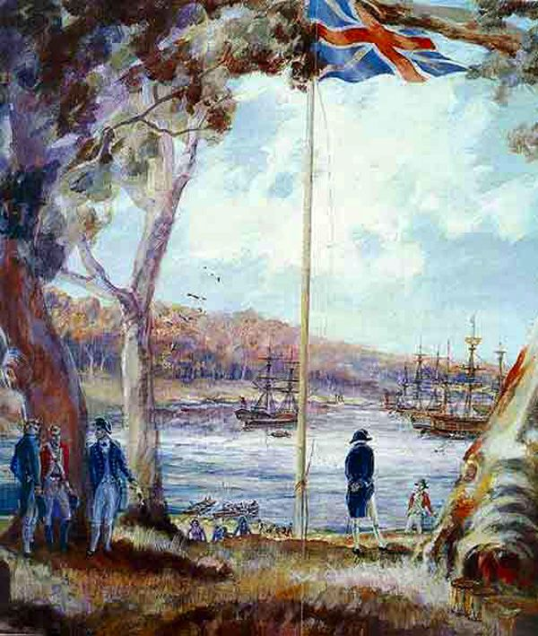 Captain Arthur Phillip ..First Fleet landing Sydney 1788