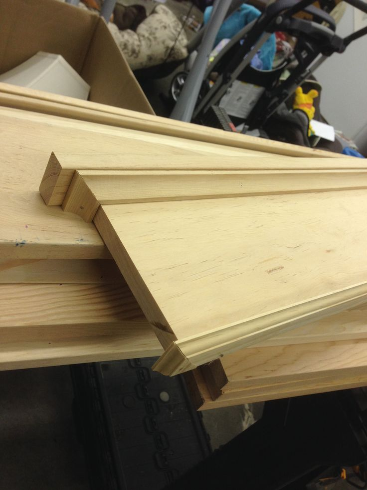 Craftsman window trim made from common douglas fir boards. Craftsman headers are 8 pieces each. The entire window casing was 18 pieces.