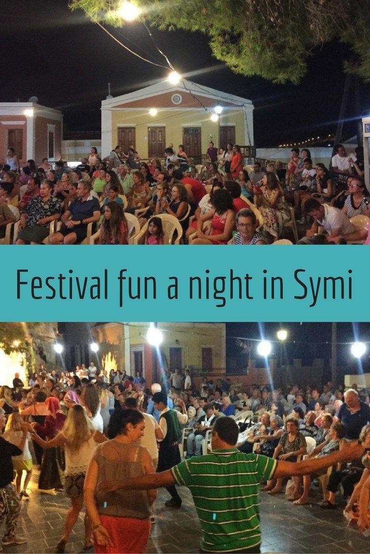 festival fun a night in Symi