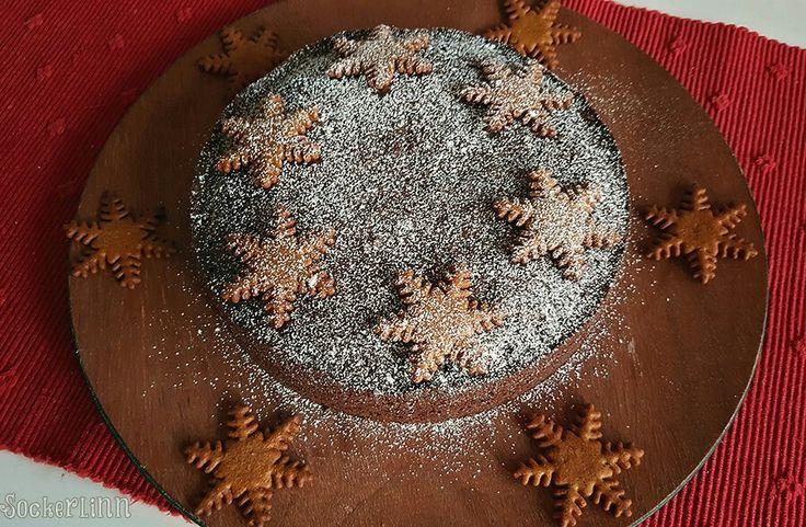 Pepparkakskladdkaka gingerbread cake chocolate cake recept ginger  ⭐sockerlinn.se⭐