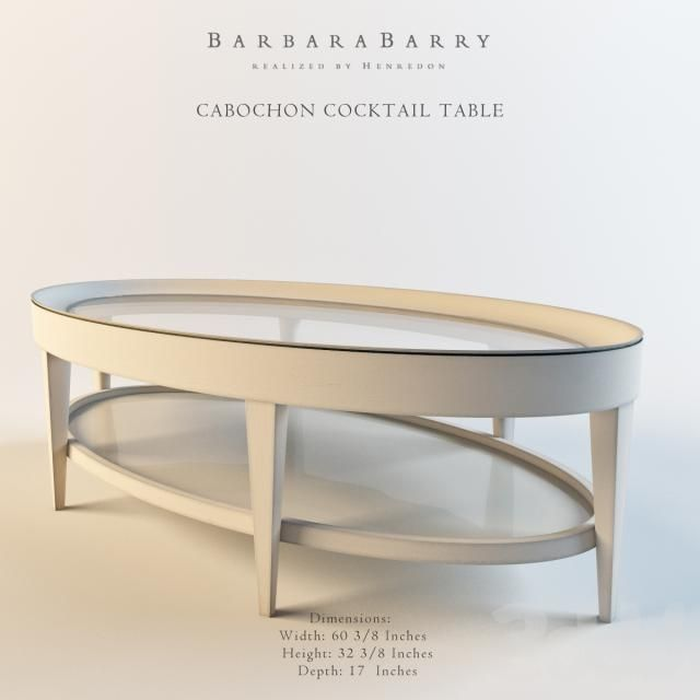 Barbara BarryCABOCHON COCKTAIL TABLE 3D models Pinterest