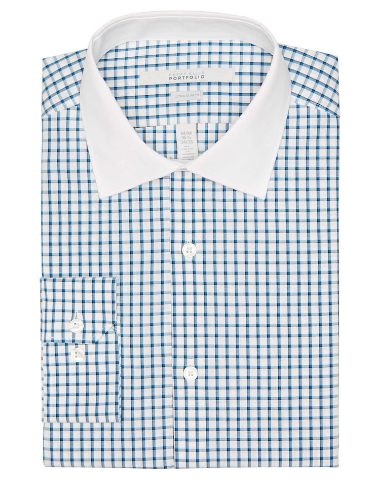 #FashionVault #perry ellis #Men #Tops - Check this : Perry Ellis Ultra Slim Checkered Dress Shirt for $32.99 USD