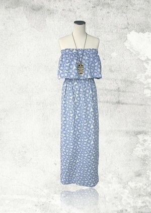 Sophia Strapless Maxi Dress
