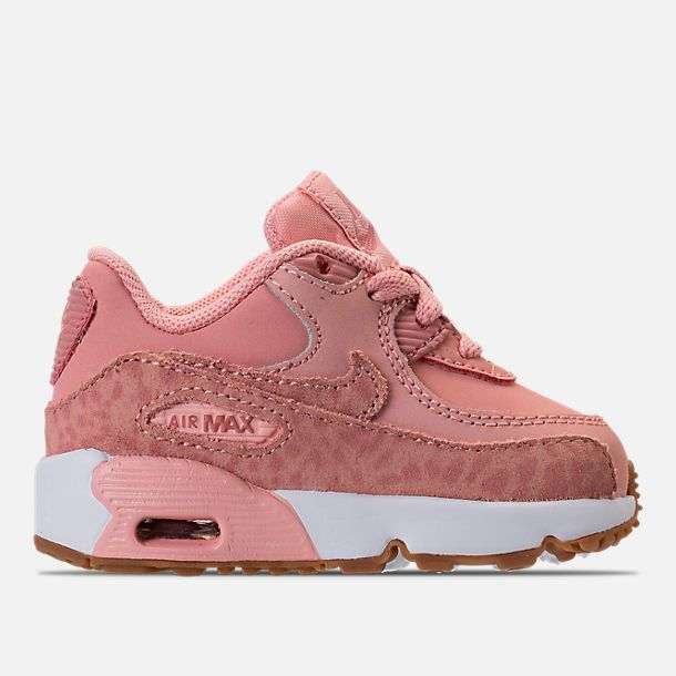 ea2411f5f487 Right view of Girls  Toddler Nike Air Max 90 SE Leather Running Shoes in Coral  Stardust Rust Pink Gum Light Brown