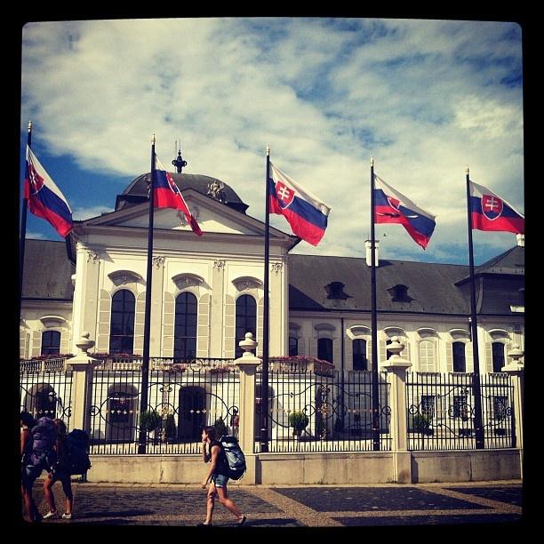 hello mr. president! :) #slovakia #slovak #slovensko #bratislava #pressburg #presidential #palace #flags #europe - @muhifreak- #webstagram