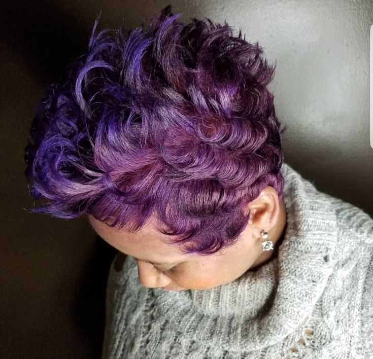 Fun purple by @shonleggett - https://blackhairinformation.com/hairstyle-gallery/fun-purple-shonleggett/